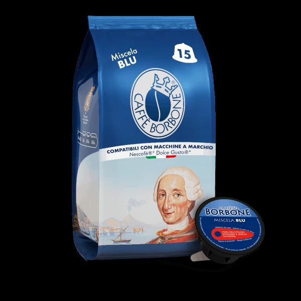 Caffè Borbone Miscela Blu 15 Kapseln kompatibel Nescafè Dolce Gusto