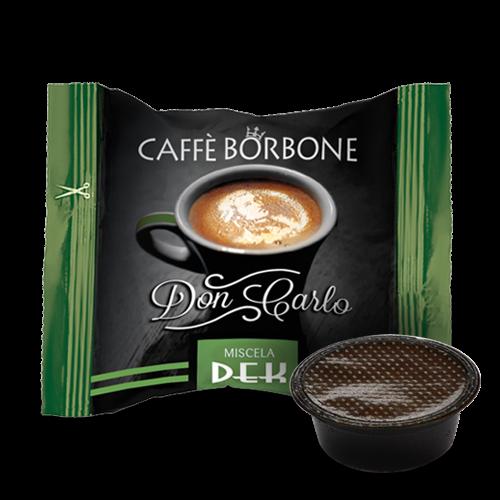 Kaffeekapseln Caffe Borbone DEK Don Carlo Kompatibel Lavazza A Modo Mio